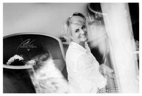 přípravy nevěsty Villa Voyta svatební fotograf