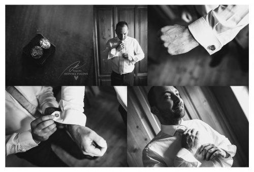 přípravy ženicha na Rožďalovickém mlýně