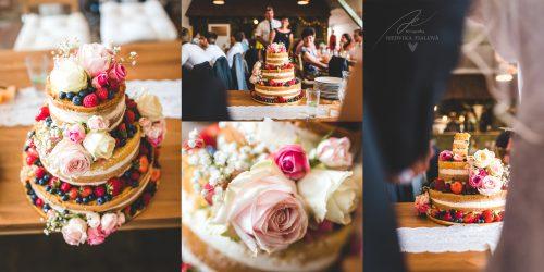 svatební naked dort v Rožďalovickém Mlýně svatební fotograf