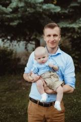 focení tatínka a syna